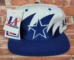 d5cb92a77e6 Dallas Cowboys Vintage Snapback Logo Athletic Sharktooth Hat NHL Rare Pro  Line Dallas Cowboys Logo