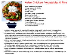 Tupperware Smart Multi Cooker Recipe Asian Chicken, vegetables & Rice