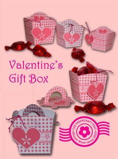 Valentine's Gift Box. Slot-lid with handle. Can be used for all occasions - and for craft storage.http://thepapercraftpost.blogspot.co.uk/2015/01/valentine-gift-boxes.html
