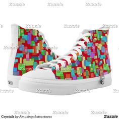 Crystals High-Top Sneakers Composition Painting, Santa Fe Springs, Custom Sneakers, Top Shoes, Converse Chuck Taylor, High Tops, High Top Sneakers, Pairs, Unisex