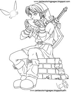 some more zelda coloring pages love - Zelda Coloring Pages