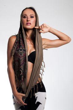 Infinity Tassle Shawl- Scarab Mandala Print- Sand   GLASS MAGPIE APPARELhttp://glassmagpieapparel.com/collections/womens/products/infinity-tassle-shawl-scarab-mandala-sand