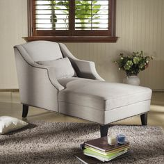 Baxton Studio 'Asteria' Putty Gray Linen Modern Chaise Lounge | Overstock.com