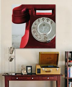 Love this Red Symposium Design 'Hello' Phone Gallery-Wrapped Canvas on #zulily! #zulilyfinds