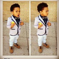 little man ~ Mr. GQ in the making