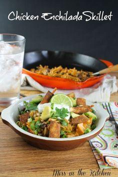 Miss in the Kitchen ~  Chicken Enchilada Skillet by casavantwilliams