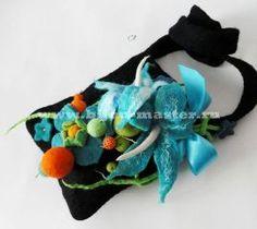 Felted Bag with 3D Floral design