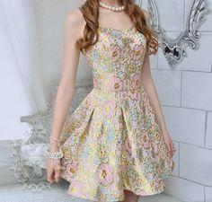 Slim pink jacquard harness dress