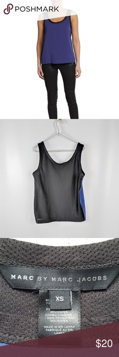 """Marc Jacobs Elena Crepe Tank Top Marc Jacobs Elena Tank Top. Back is mesh. No stains, no rips, no weird smells. In very good condition. Not my photos. Feel free to make me an offer! Bust: 34"""" Waist: 37"""" Length: 23.5"""" Marc Jacobs Tops Tank Tops"""