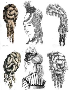 late 1800s hairstyles