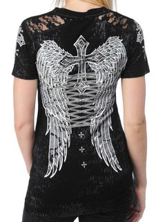 Biker Chic, Biker Style, Motorcycle Wear, Motorcycle Fashion, Affliction Clothing, Country Outfits, Apparel Design, Cute Outfits, T Shirts For Women