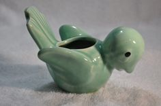 Vintage Brush McCoy Bird Vase Light Green 1940's   eBay