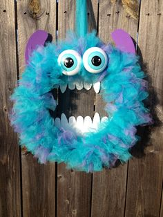 Monsters Inc. Sulley Wreath by CraftyCoutureCandace on Etsy, $40.00