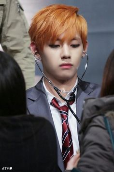 BTS   V~ if he checked my heart, it would probably be beating really fast >.<