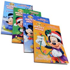 Kids will love spending time with their favorite Disney® friends this holiday season! Mickey and his friends grace the covers of these 96-page Christmas-theme coloring books. Perfect for traveling