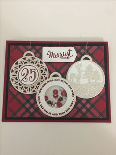 Stampin' Up Merriest Wishes stamp set and Merry tags Framelits
