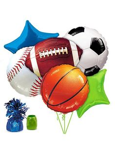 Sports Party Balloon Kit - We used a sport's theme for my son's 3rd birthday