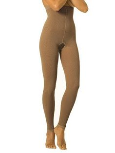 eeeb3cbf6 High Waist Legging Compression Garment with Open Crotch for Edema  (Swelling) + Post Surgical