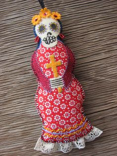 Day of the Dead Embroidered Catrina