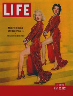 Life Magazine May 25, 1953 Marilyn Monroe and Jane Russell in Gentlemen Prefer Blondes