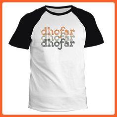 Idakoos - Dhofar repeat retro - Cities - Raglan T-Shirt - Cities countries flags shirts (*Partner-Link)