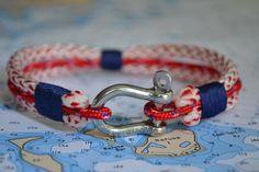 Nautical Jewelry Bracelet Sailing Hardware Rope Surfer Kayaker Unisex. via Etsy.