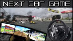 Bugbear Entertainments Next Car Game, the Flatout successor, up for Early Release on steam. Here played with a triple monitor setup & wheel, shot with GoPro Hero3+ Black Edition.
