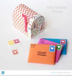Mini Mailbox Playset by Analisa Murenin for Silhouette