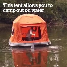 Cruise your way down the river with this floatable tent ️  Credit: SmithFly