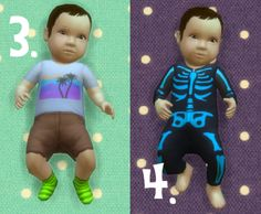 It's all about clutter, Baby Overrides: Set 12 - Light Skin/Boy + Brown...