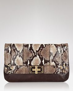 Milly Clutch - Kathryn Python | Bloomingdale's