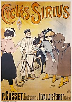 Cycles Sirius by H. Grey 1899 France - Beautiful Vintage Posters Reproductions.
