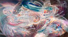 """Infinitus"" | acrylics on canvas | 106cm x 196cm | 2015"