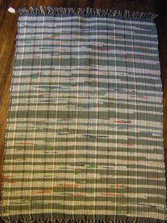 Hand loomed rag rug 47 x 32