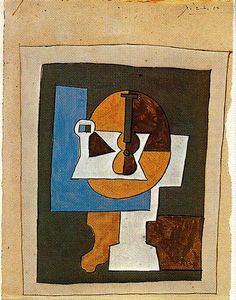 Bowl of Fruit and Guitar, 1920 - Pablo Picasso - WikiArt.org