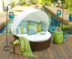 Light Weight Aluminum Band Patio Area Furnishings for the Poolside – Outdoor Patio Decor Pool Furniture, Furniture Design, Outdoor Furniture, Wicker Furniture, Furniture Ideas, Adirondack Furniture, Primitive Furniture, Modular Furniture, Furniture Showroom