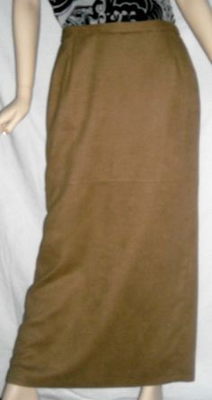 "Kaliko Soft Tan Suede Like Full Length Skirt Fits 31""Waist Ships Free in the USA"