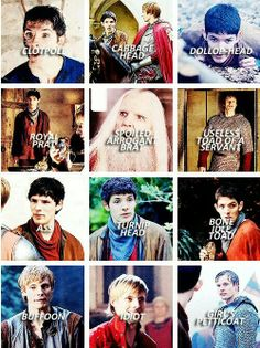 """insults of merlin... i think they're missing quite a few other variants on """"toad"""" XD"""