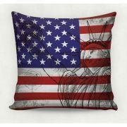 Almofada decorativa em tecido estampado - USA – 45cm X 45cm - Decorsoft - Almofadas com estampas lindas. Aqui você encontra! @decor_soft http://www.decorsoft.com.br/ #decorsoft #decor #almofadas #decoração #adorable