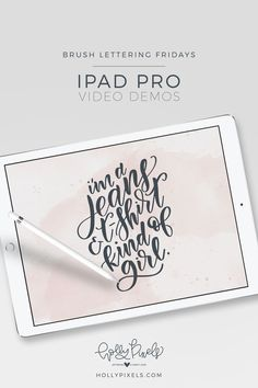 Brush lettering Fridays - watch my process from start to finish of this week's quote! Visit hollypixels.com for more iPad Pro Brush Lettering with Procreate and download a free brush and practice sheet. via @hollymccaig