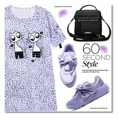 """60-Second Style: The T-Shirt Dress"" by svijetlana ❤ liked on Polyvore featuring Puma, tshirtdresses, 60secondstyle and zaful"