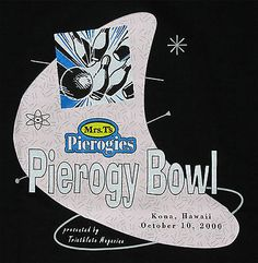 Bowling Kona Hawaii 2000 Mrs. T's Pierogy Bowl T-shirt XL NW