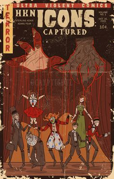 """Captured - 8"""" x 12.5"""" LIMITED comic book style print · Cryptigutz · Online Store Powered by Storenvy"""