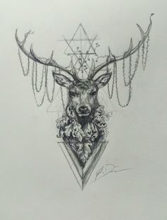 Hannibal stag tattoo