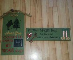 Christmas signs.  Countdown sign. Santa's Magic Key.  Made by Danica 2015