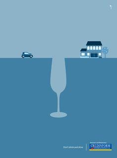 3 prints minimalistes contre l'alcool au volant