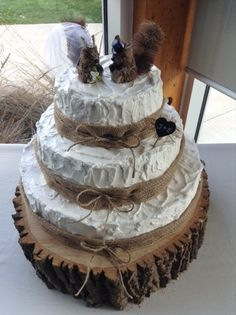Rustic fall wedding cake - specially custom made by me!