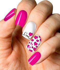 Valentine's Day Nail Designs, Square Nail Designs, Hot Pink Nails, Fancy Nails, Bow Nail Art, Valentine Nail Art, Xmas Nails, Fire Nails, Neutral Nails