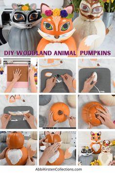 Woodland Animals Pumpkins - No Carve Pumpkin Crafts