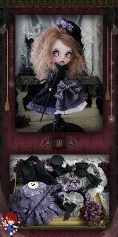 Do you like custom Blythe dolls? Specially those created by Japanese artist Milk Tea. Milk Tea has created another beauty: Dark Shadow! Steampunk Dolls, Gothic Dolls, Blythe Dolls, Girl Dolls, Barbie Dolls, Milk Tea, Collector Dolls, Cute Dolls, Ball Jointed Dolls